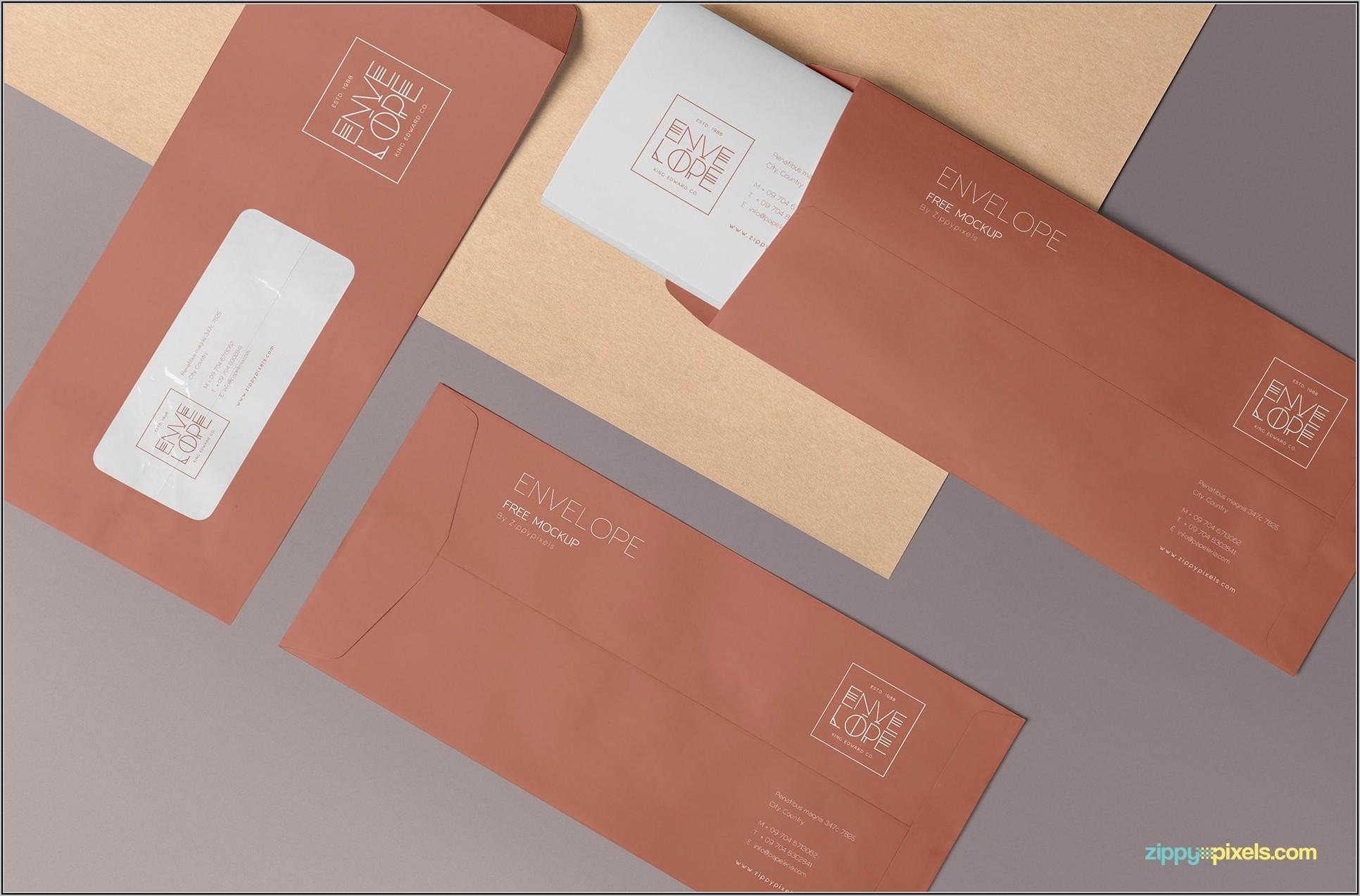A4 Envelope Mockup Free Download
