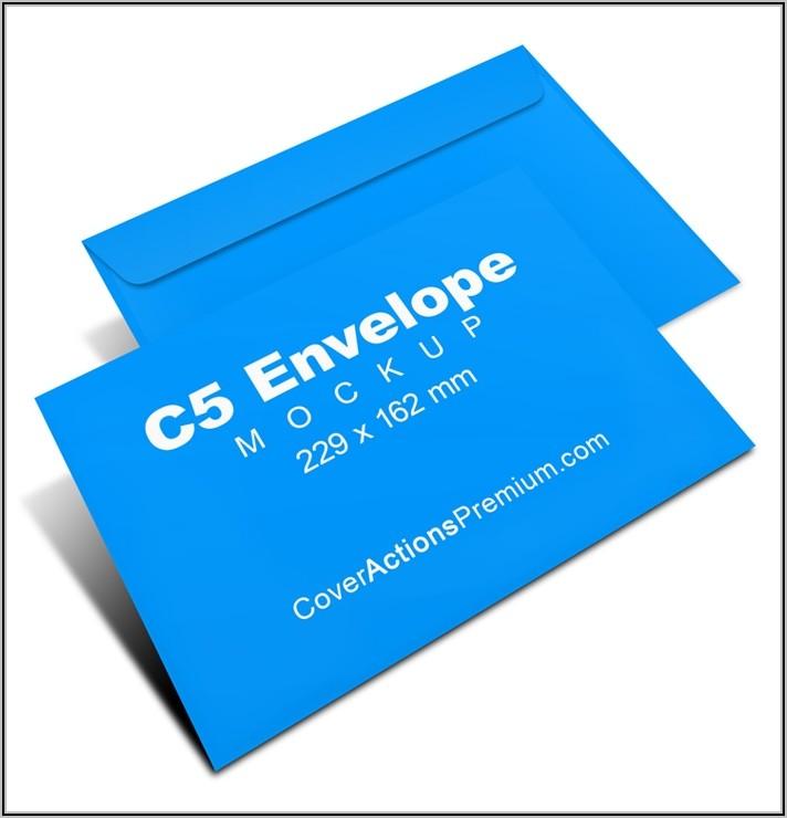 A4 Envelope Mockup Psd Free Download