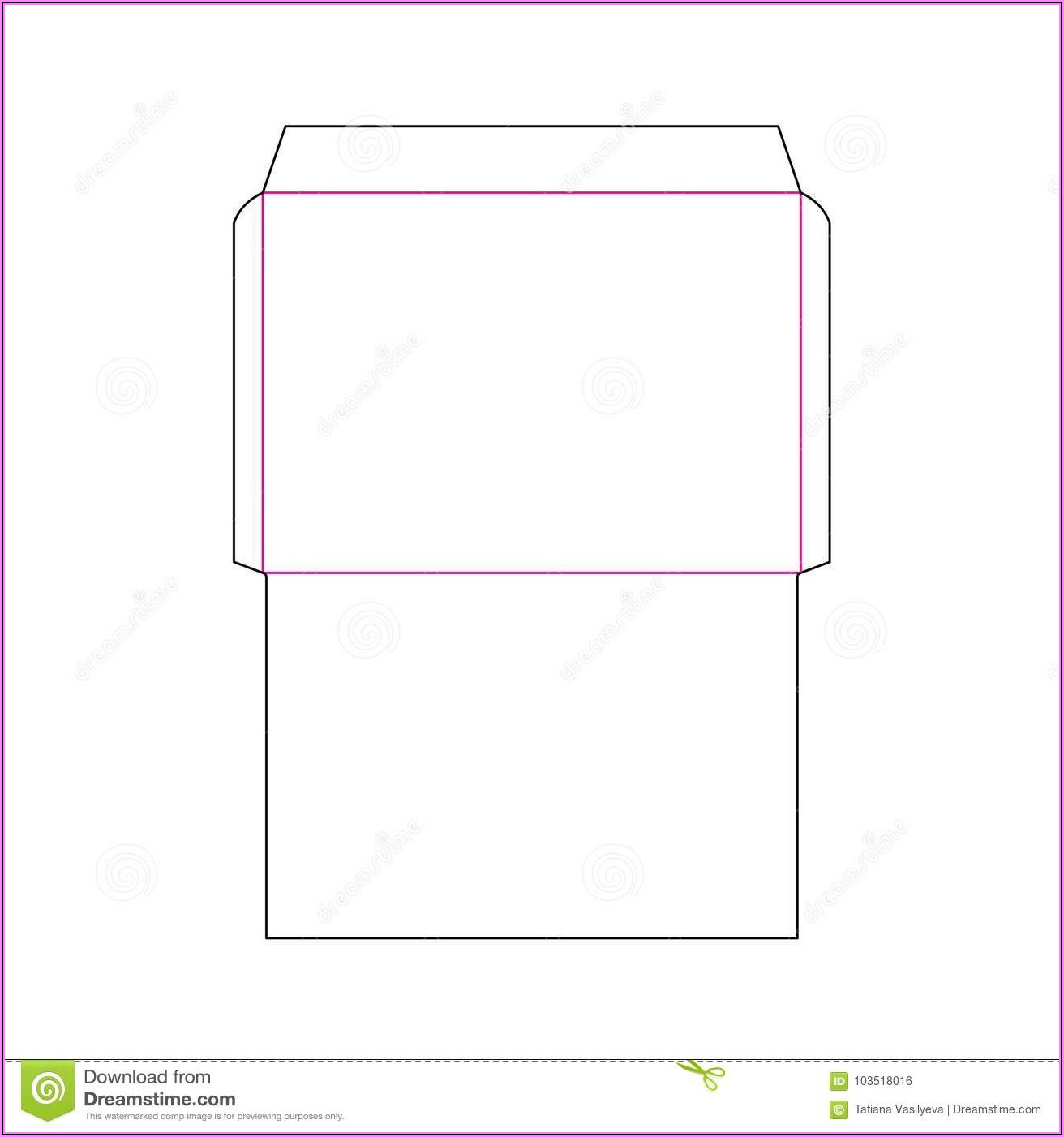 A4 Envelope Template Ai