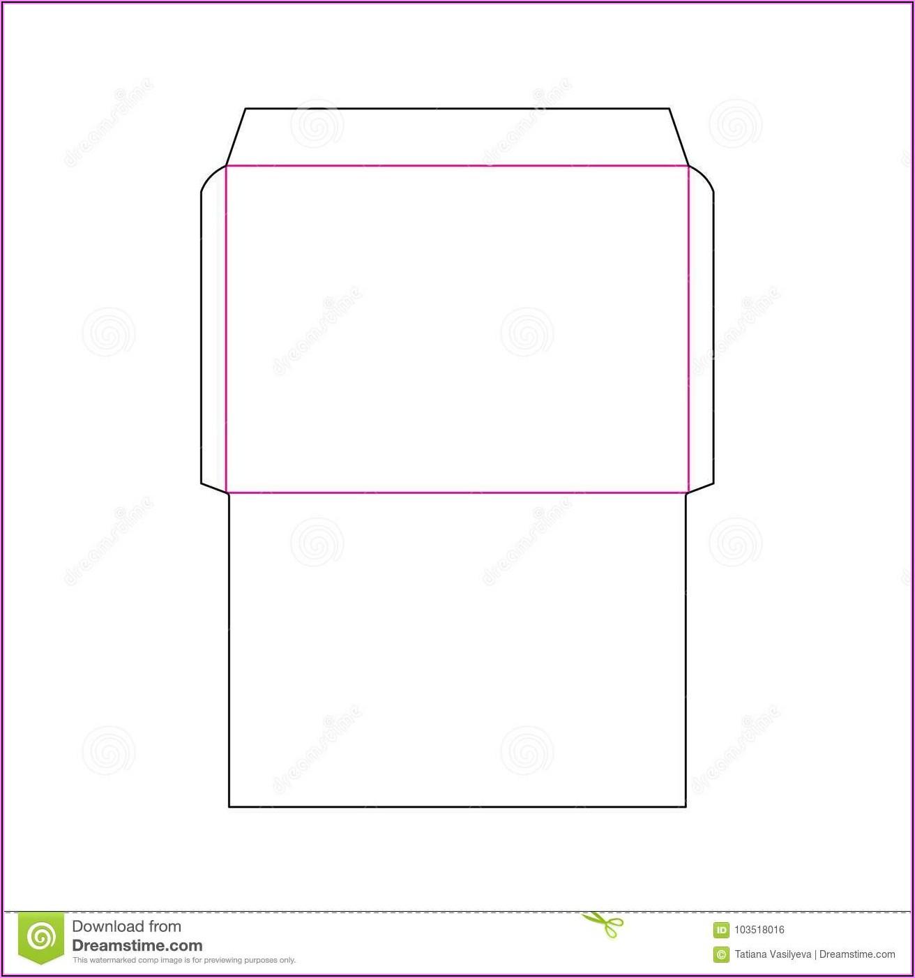 A4 Envelope Template Ai