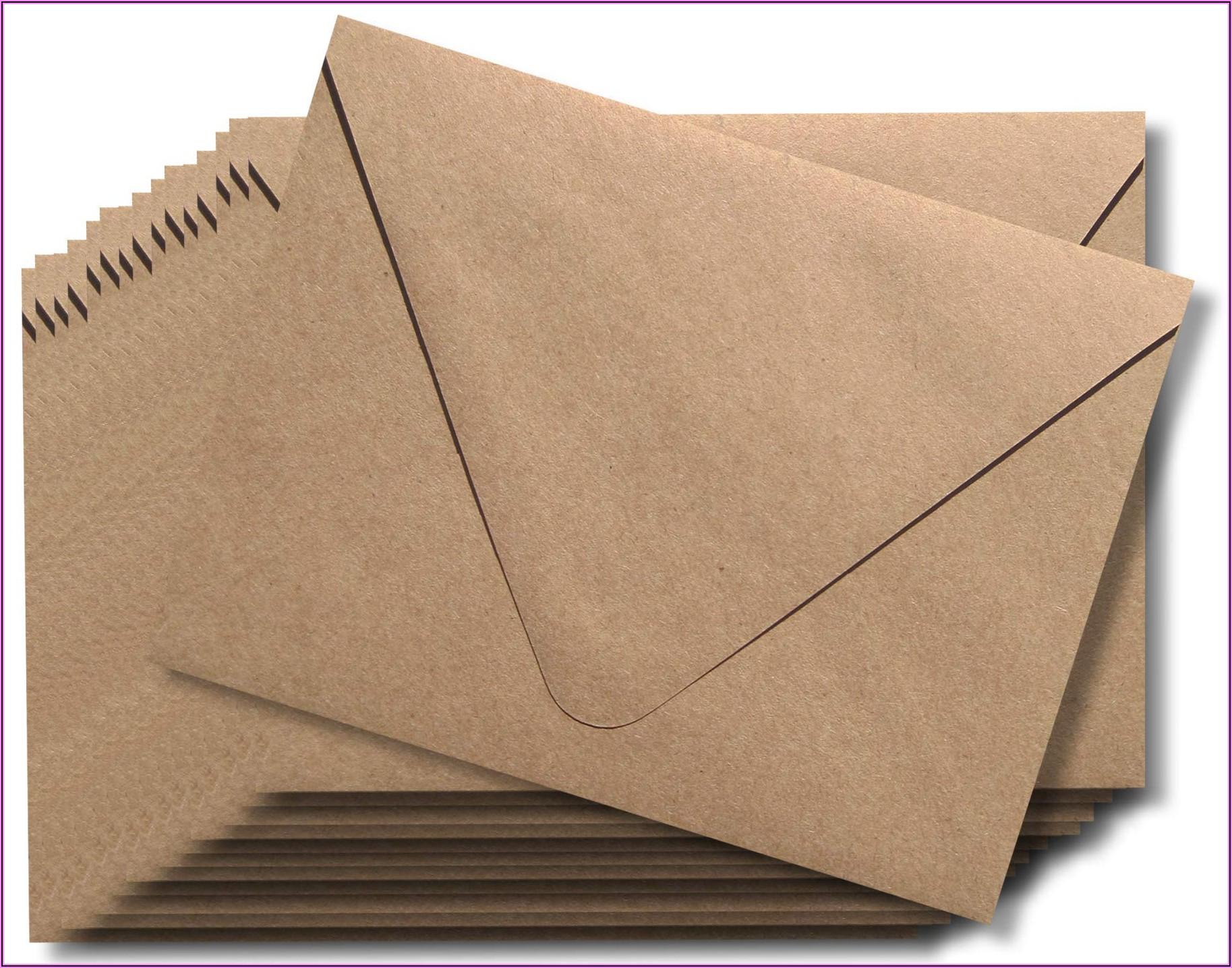 A7 Kraft Envelopes Euro Flap