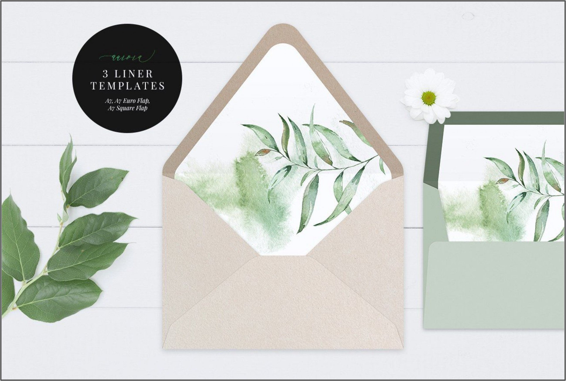 A7 Square Envelope Liner Template