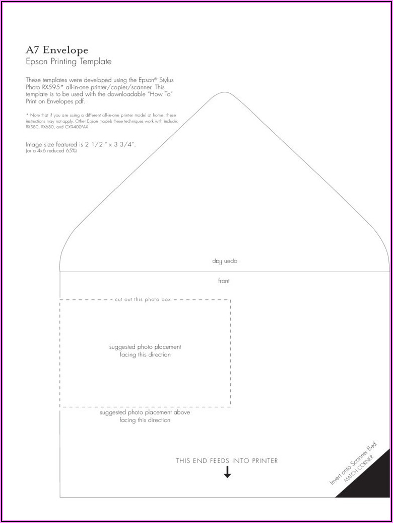 A7 Wedding Envelope Template Word