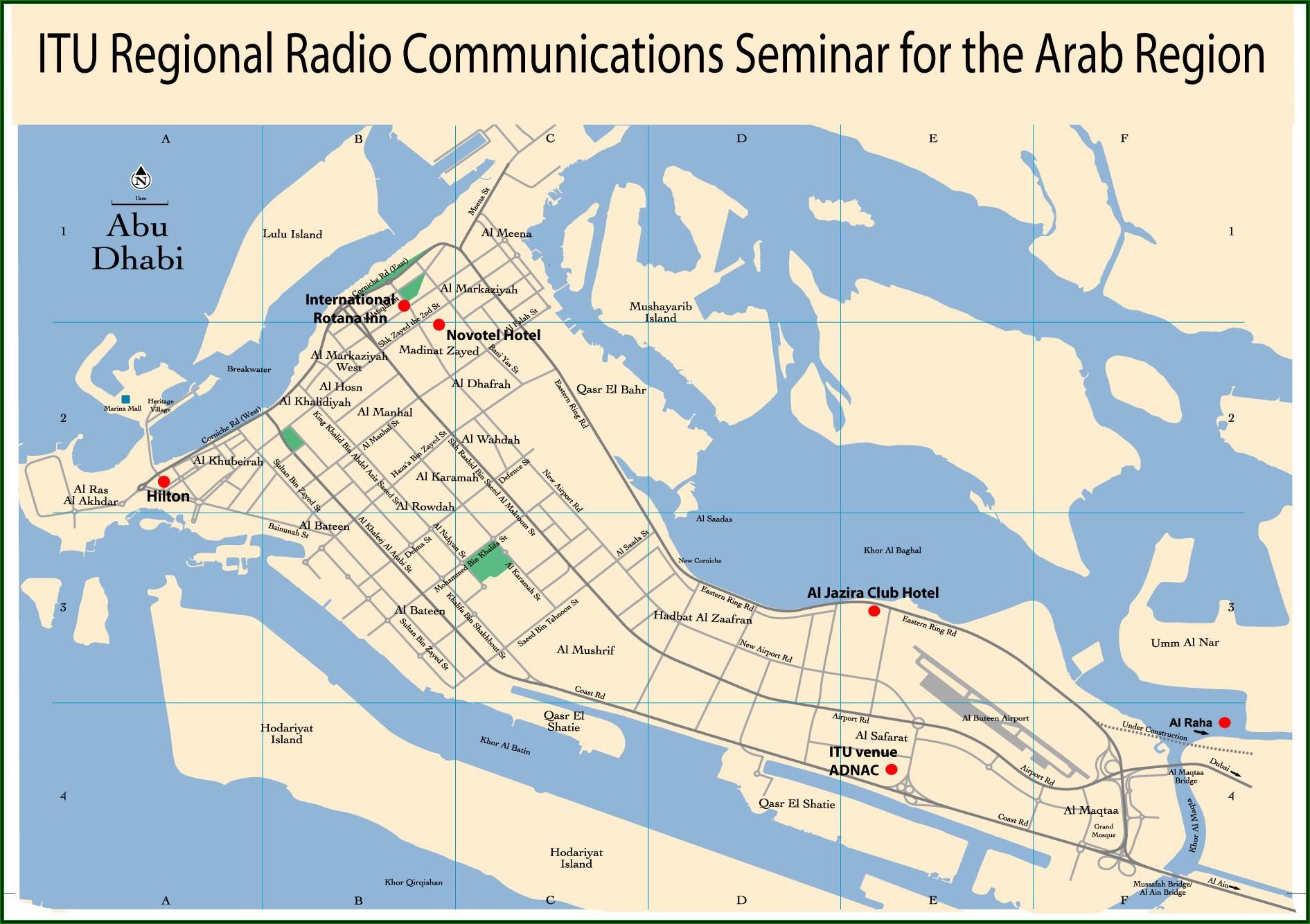 Abu Dhabi Hotels Map