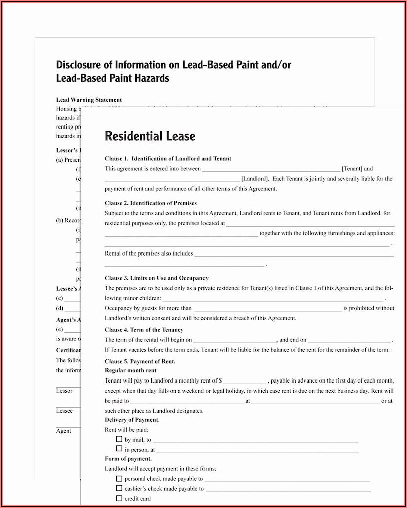 Adams Residential Lease Agreement