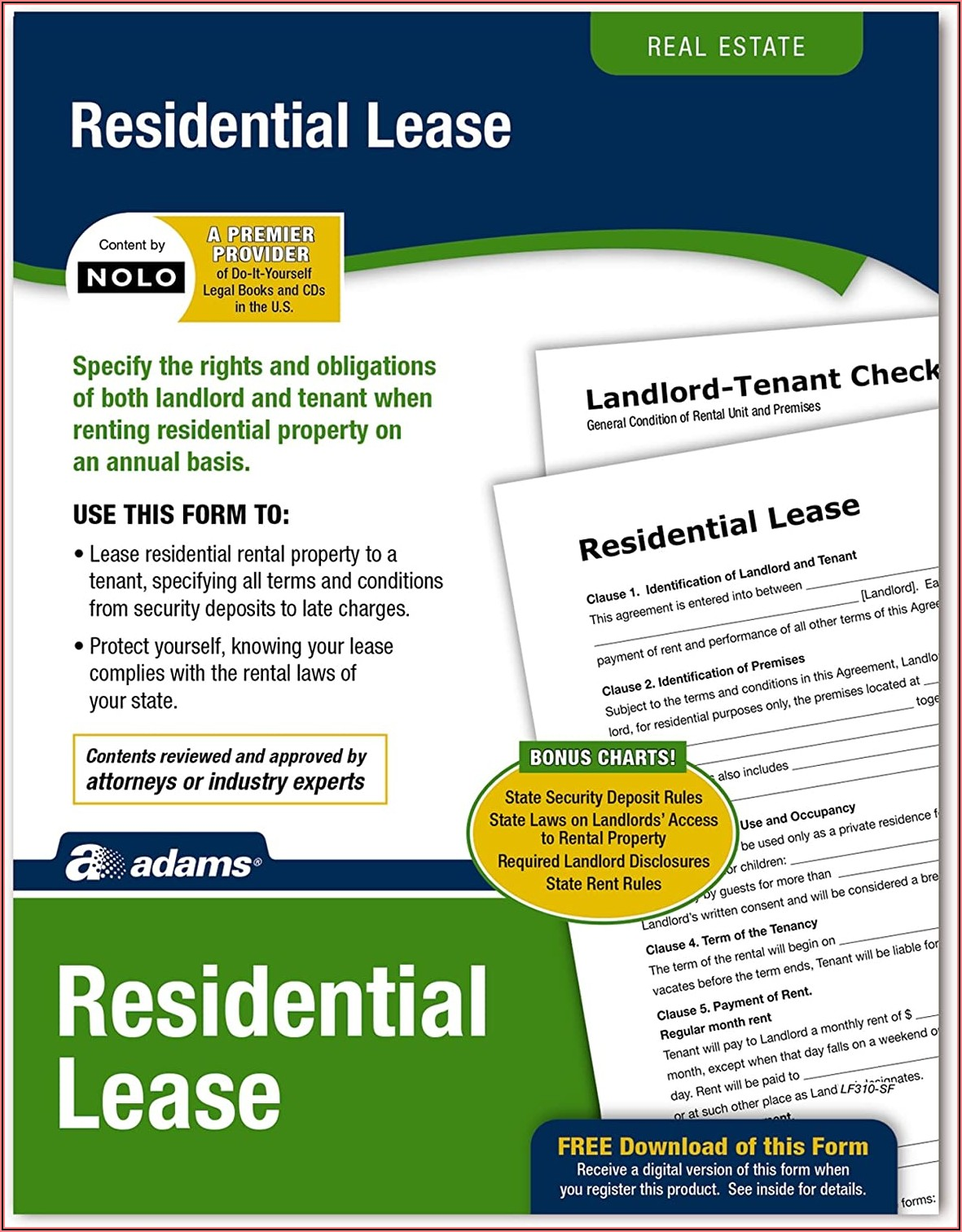 Adams Residential Lease Form Download