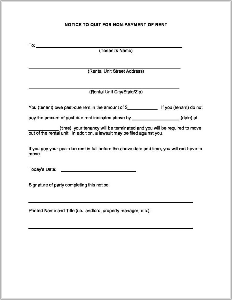 Arizona Eviction Notice Form