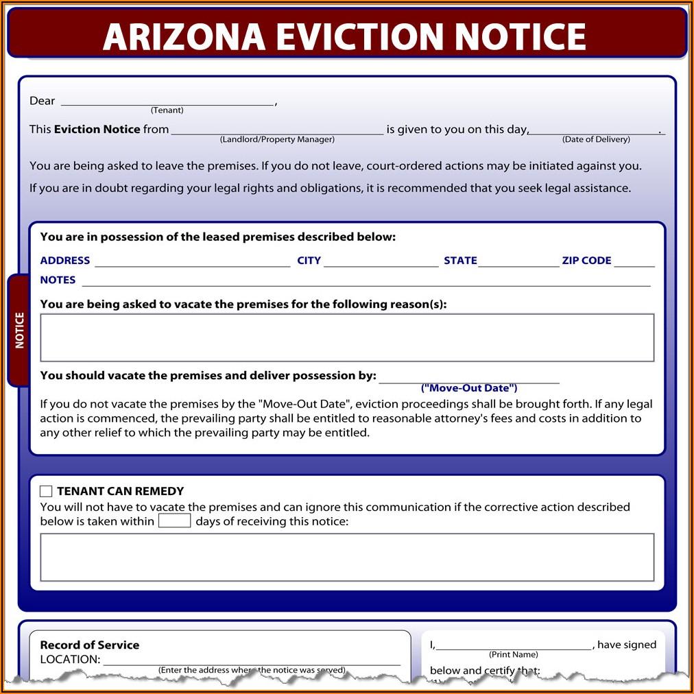 Arizona Notice To Quit Form