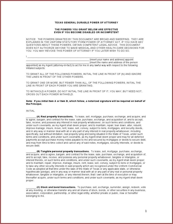 Arizona Statutory Durable Power Of Attorney Form