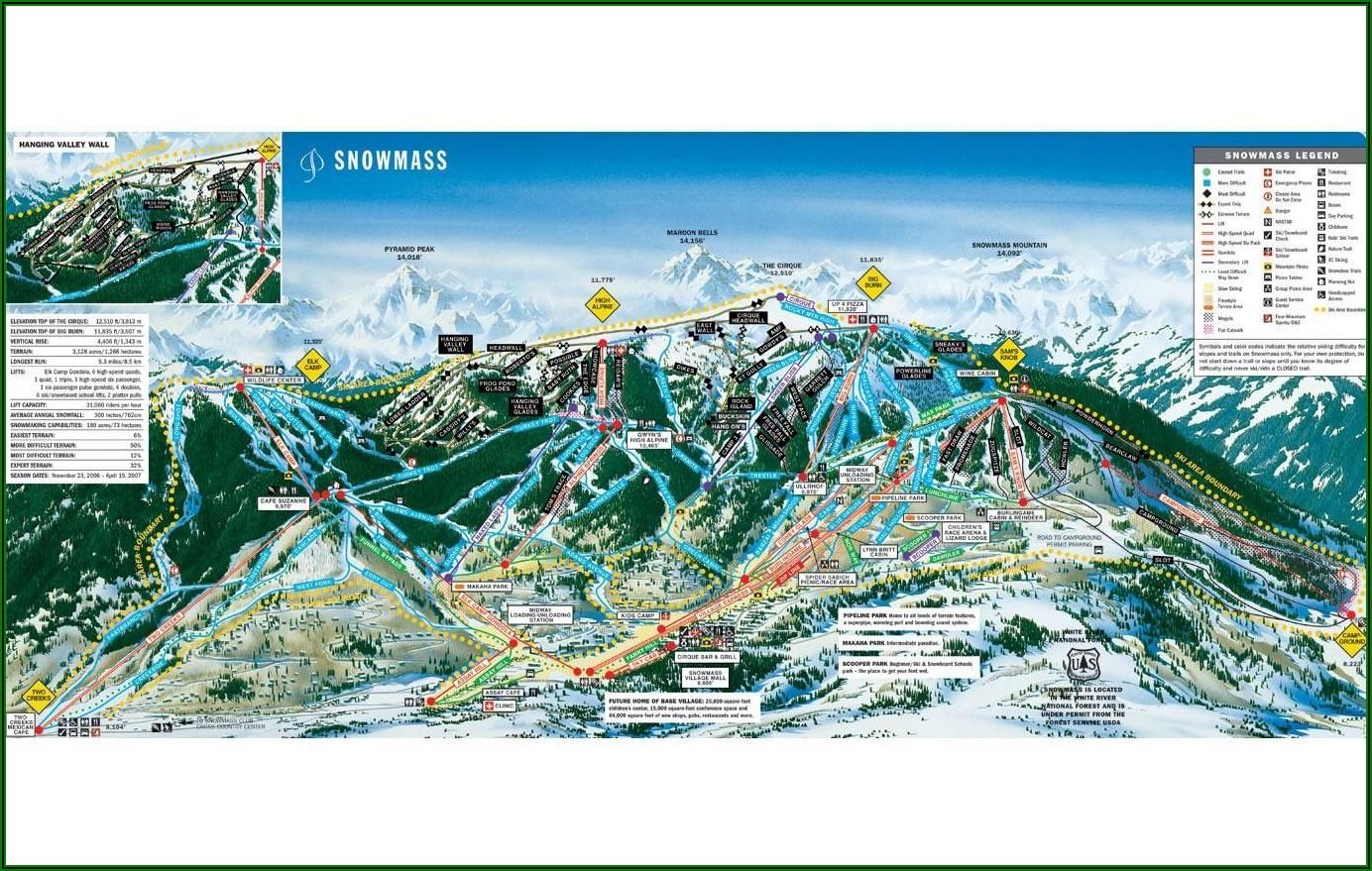 Aspen Snowmass Lodging Map
