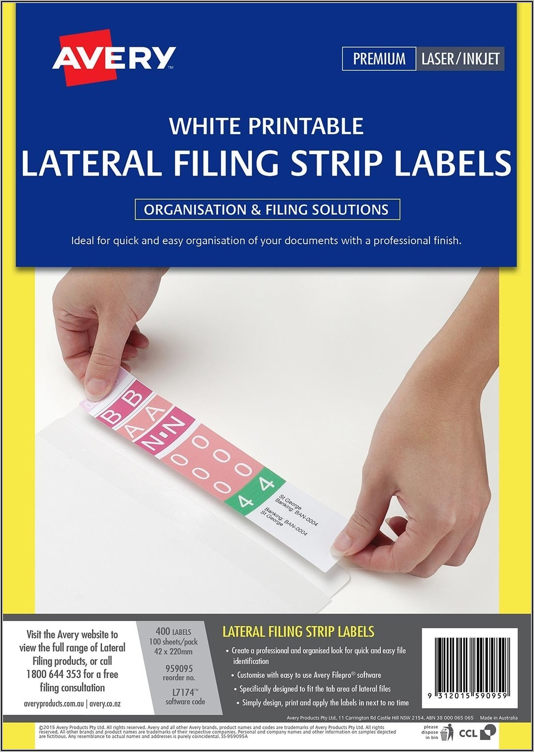Avery Laser Labels L7171 Template