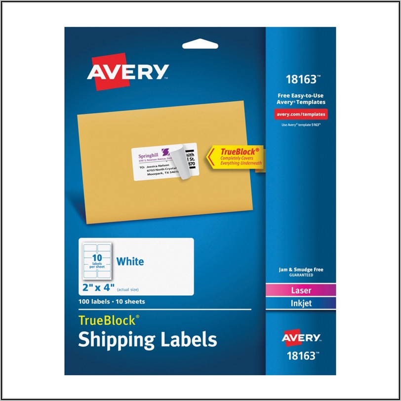 Avery Laser Labels L7173 Template