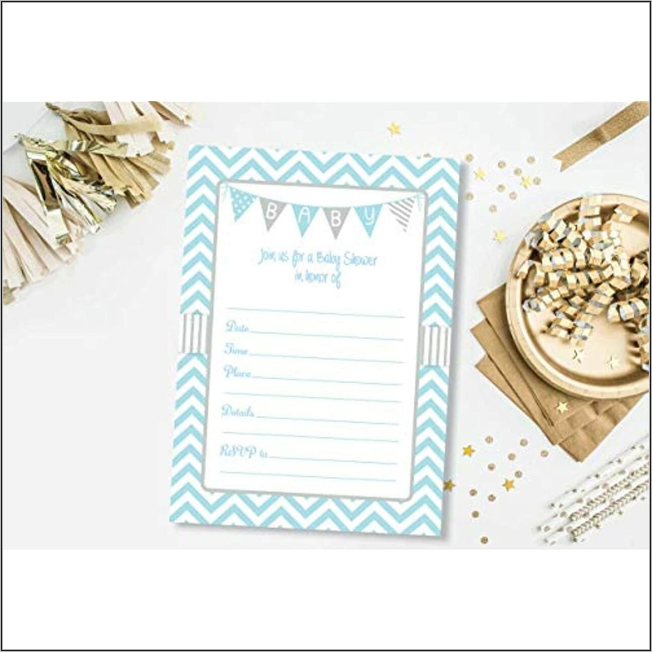 Baby Blue Envelopes 5×7