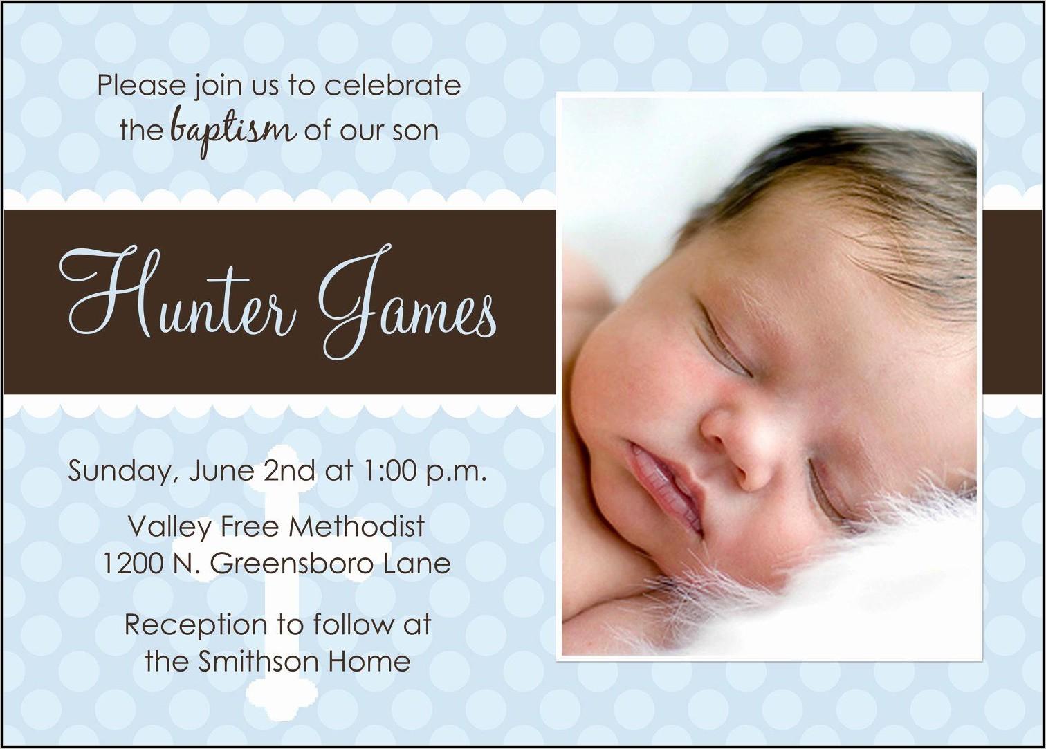 Baby Dedication Invitation Template
