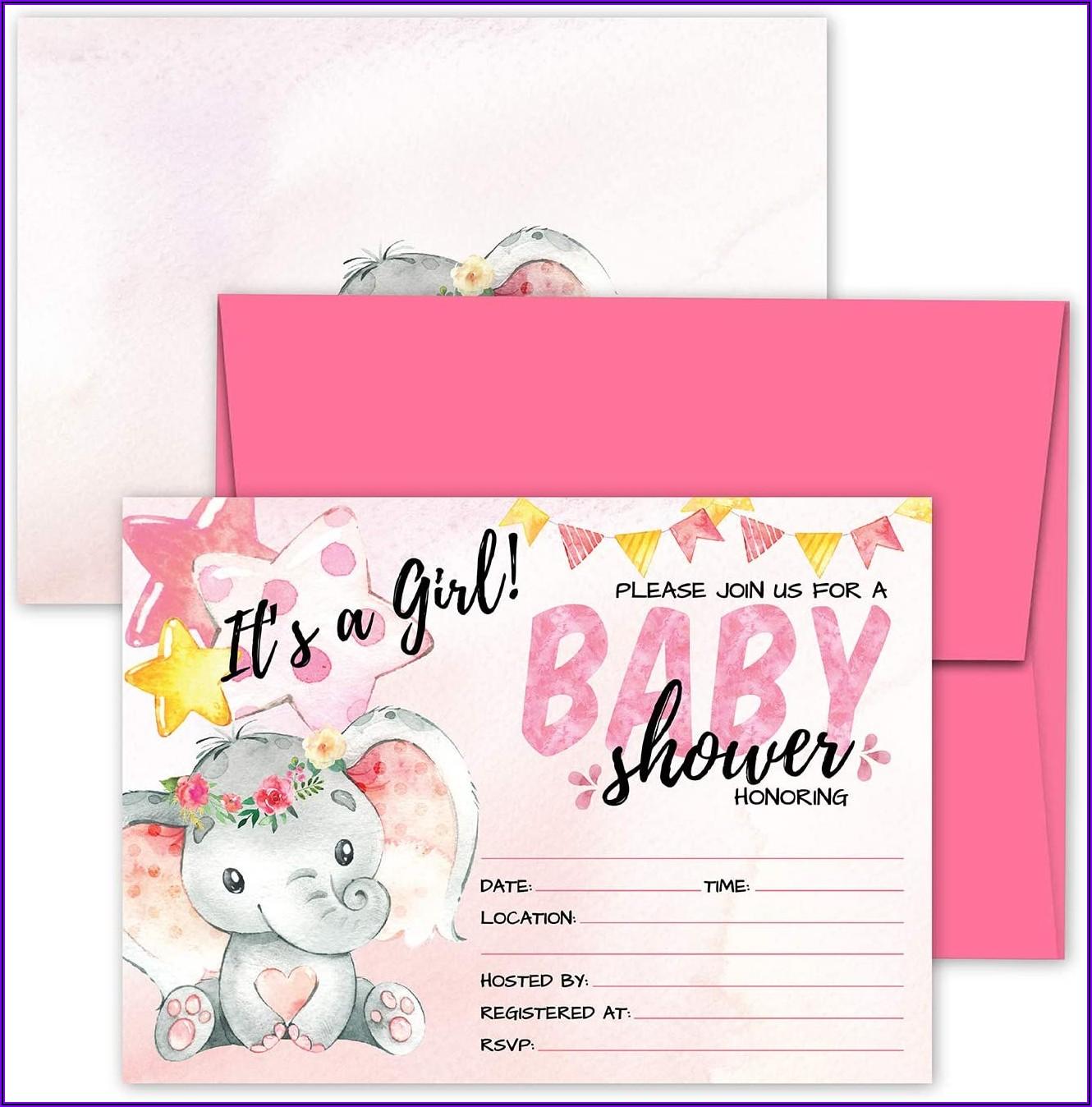 Baby Pink Envelopes 5x7