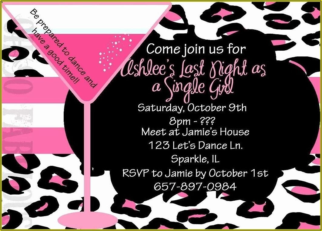 Bachelorette Party Invite Template Free