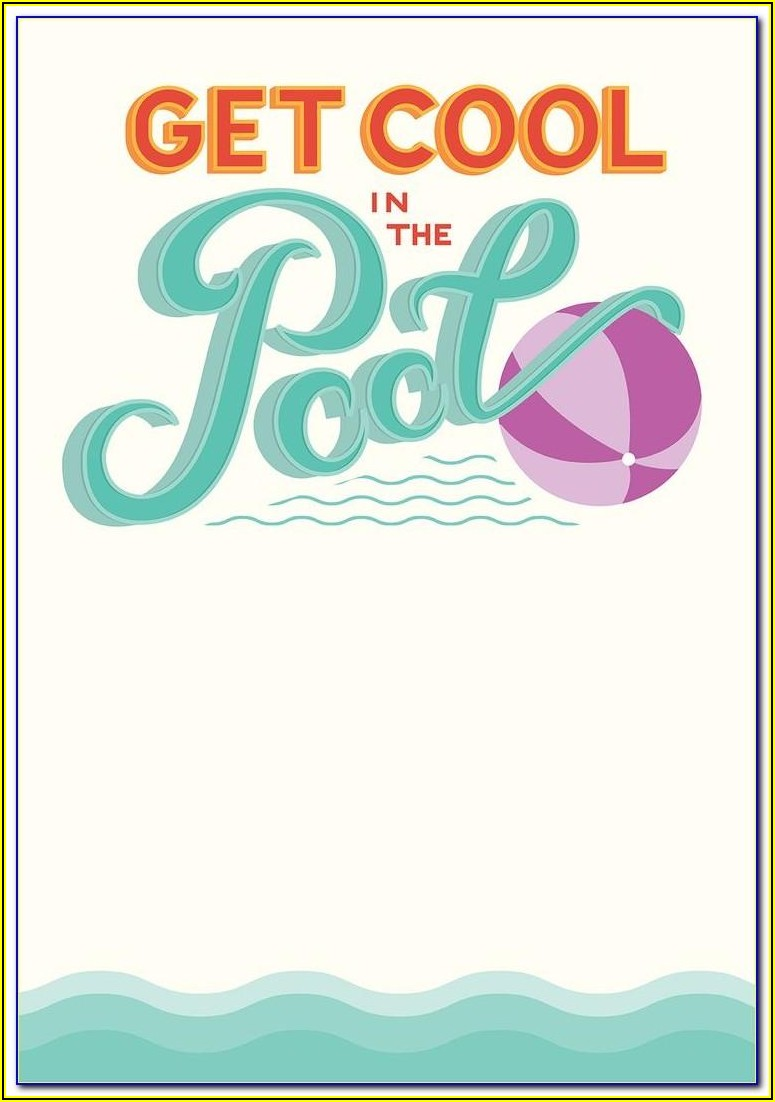 Barbie Pool Party Invitation Template