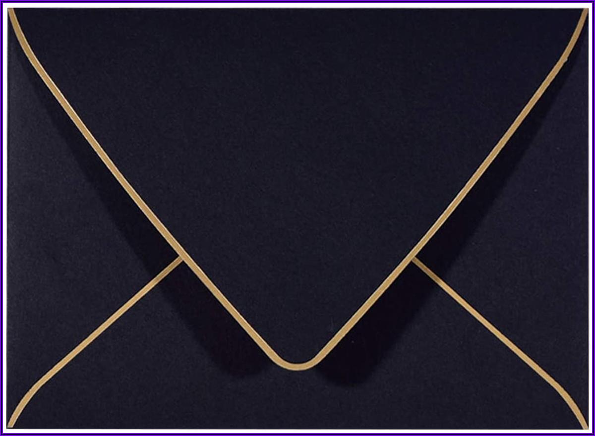 Black And Gold A9 Envelopes