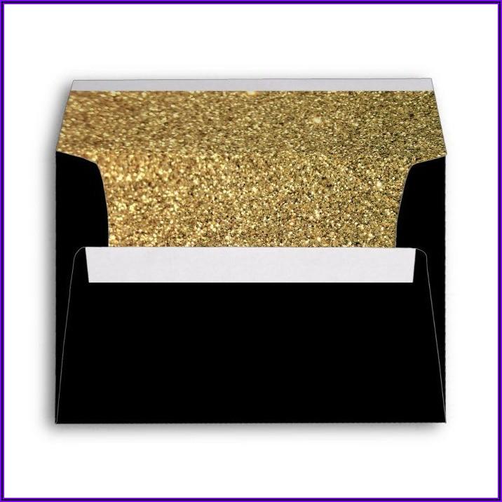 Black And Gold Invitation Envelopes