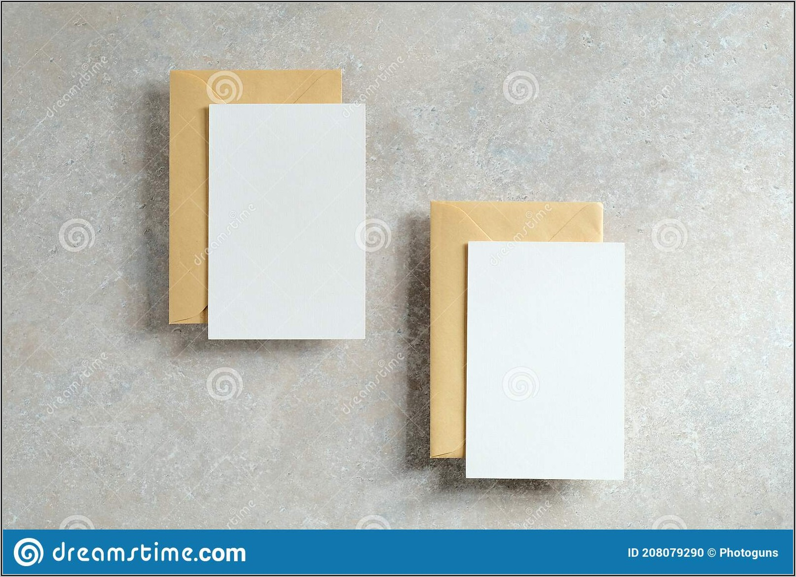 Blank Invitations And Envelopes