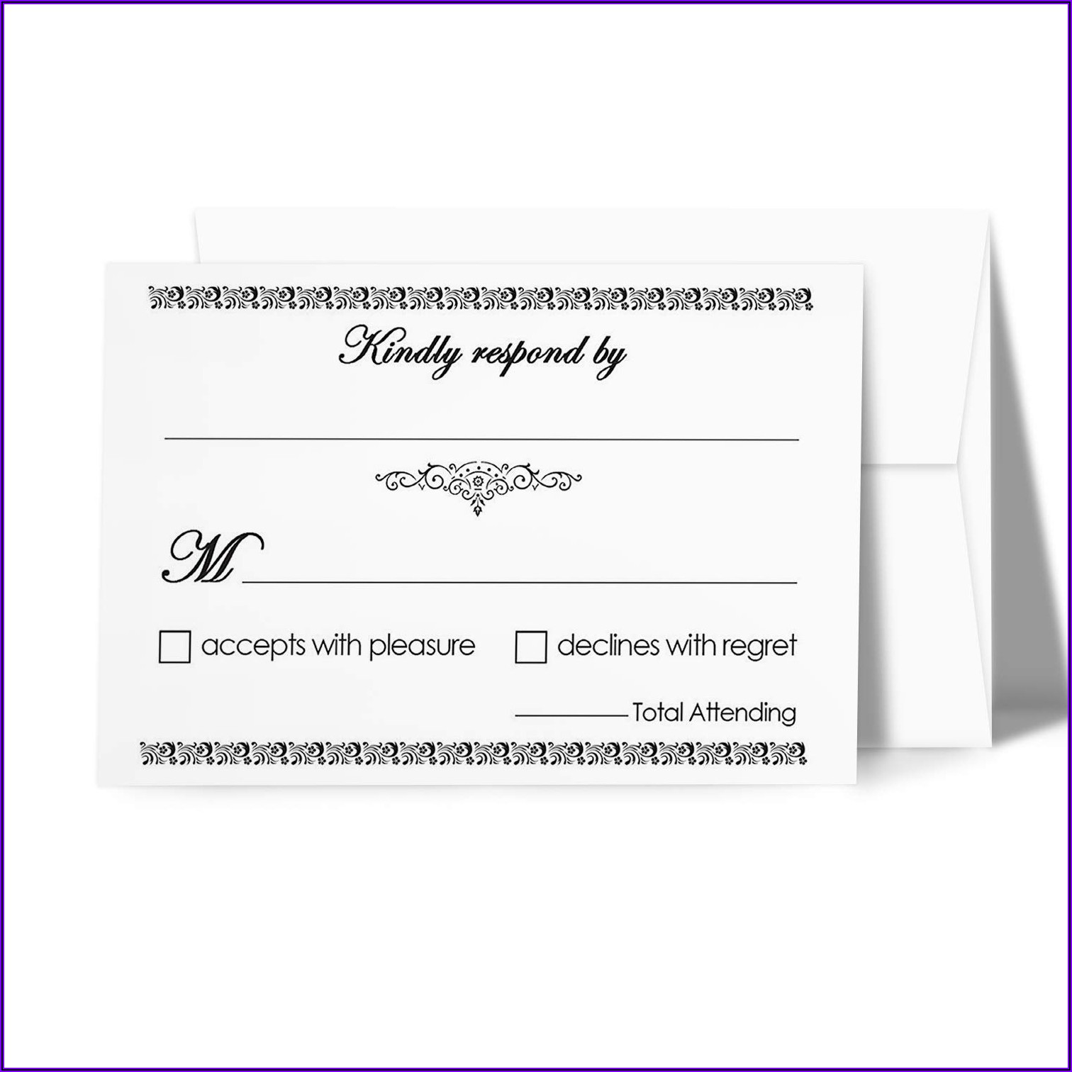 Blank Rsvp Cards And Envelopes
