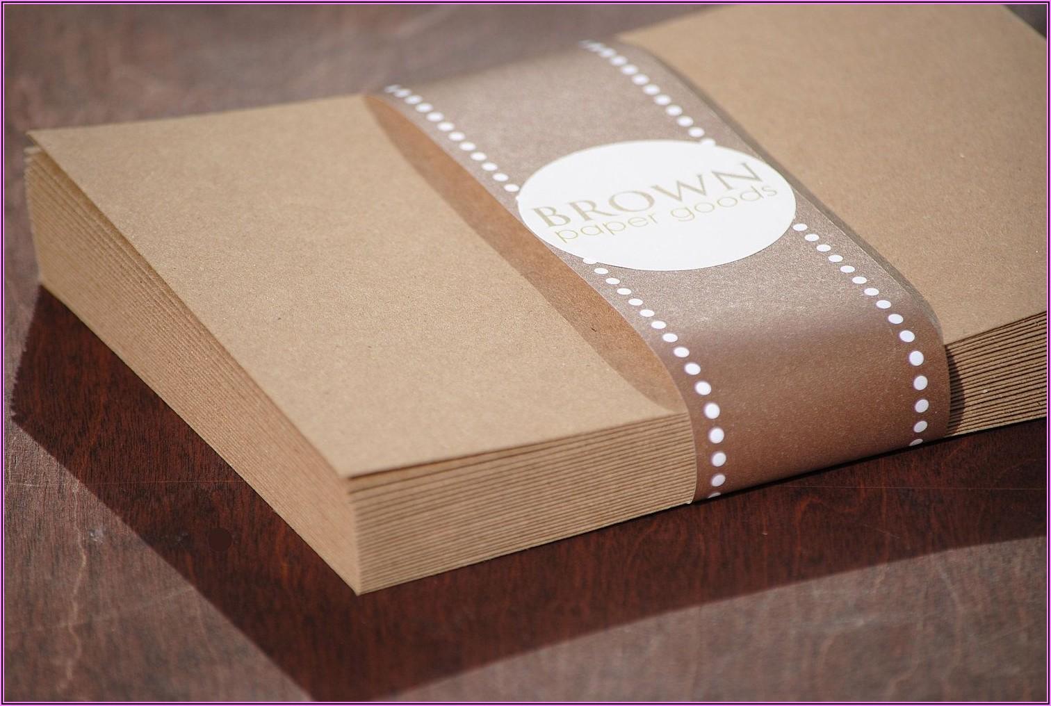 Brown Kraft Envelopes 5x7