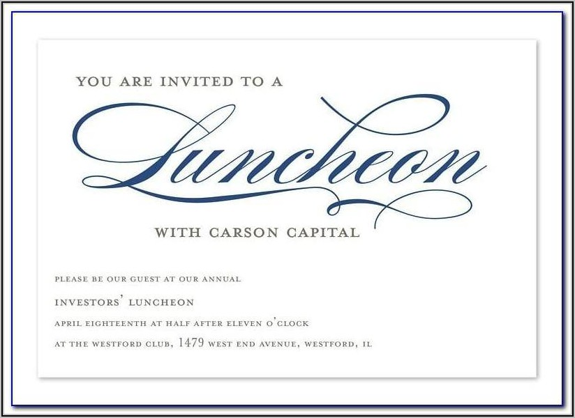 Business Lunch Invitation Sample Email