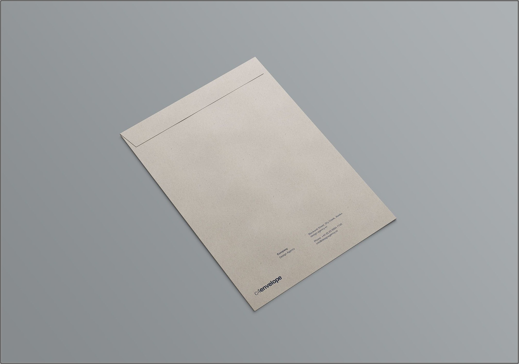 C4 Envelope Mockup Free Psd