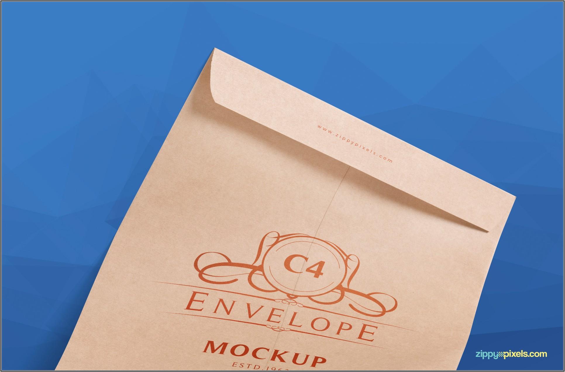 C4 Envelope Mockup Free