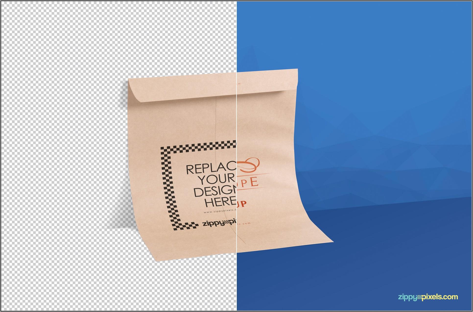 C4 Envelope Mockup Psd Free Download