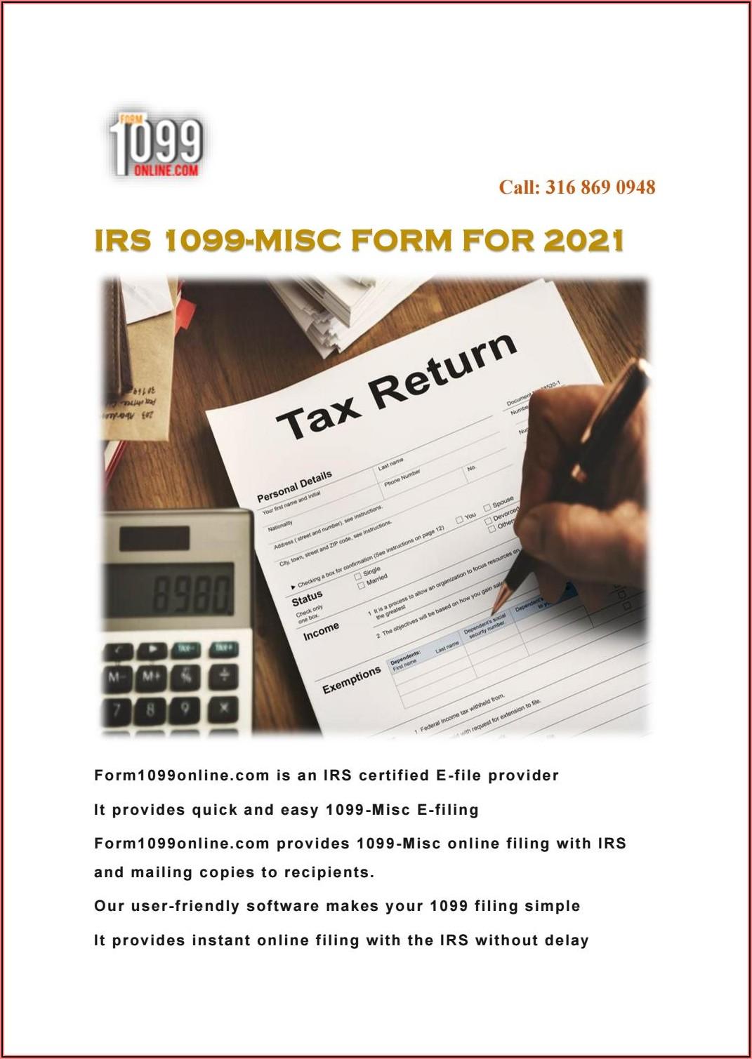 Can I File Form 1099 Misc Online