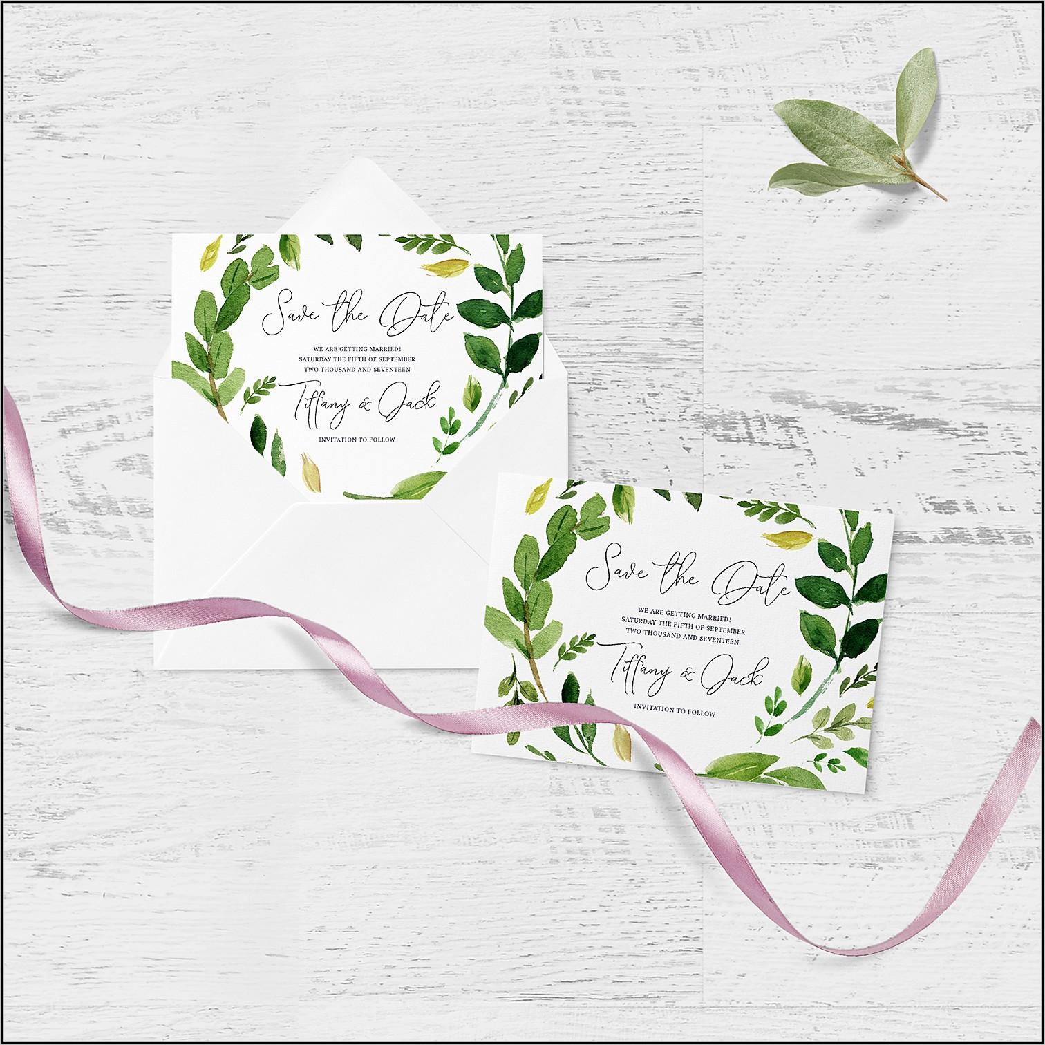 Card And Envelope Mockup Free