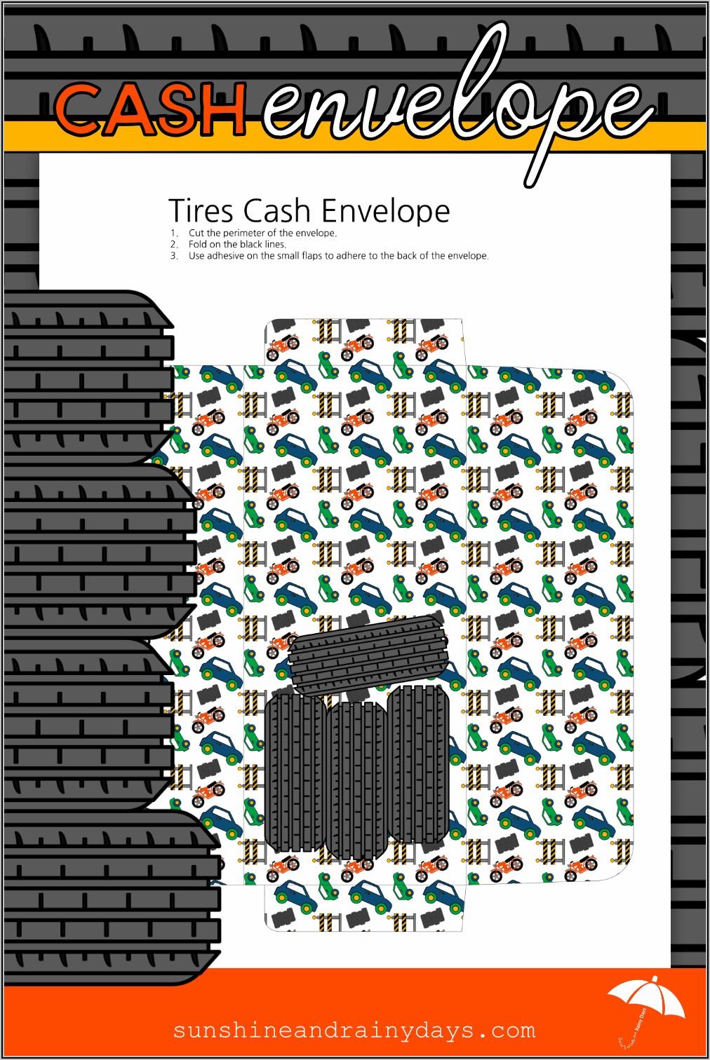 Cash Envelope Template Pdf