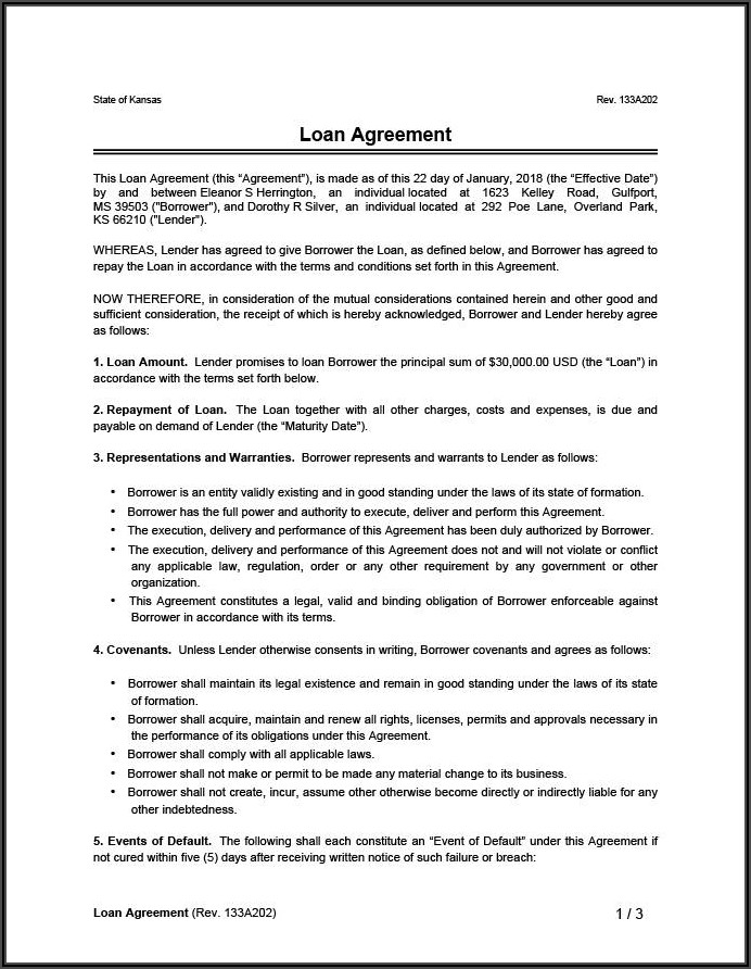 Chattel Mortgage Document