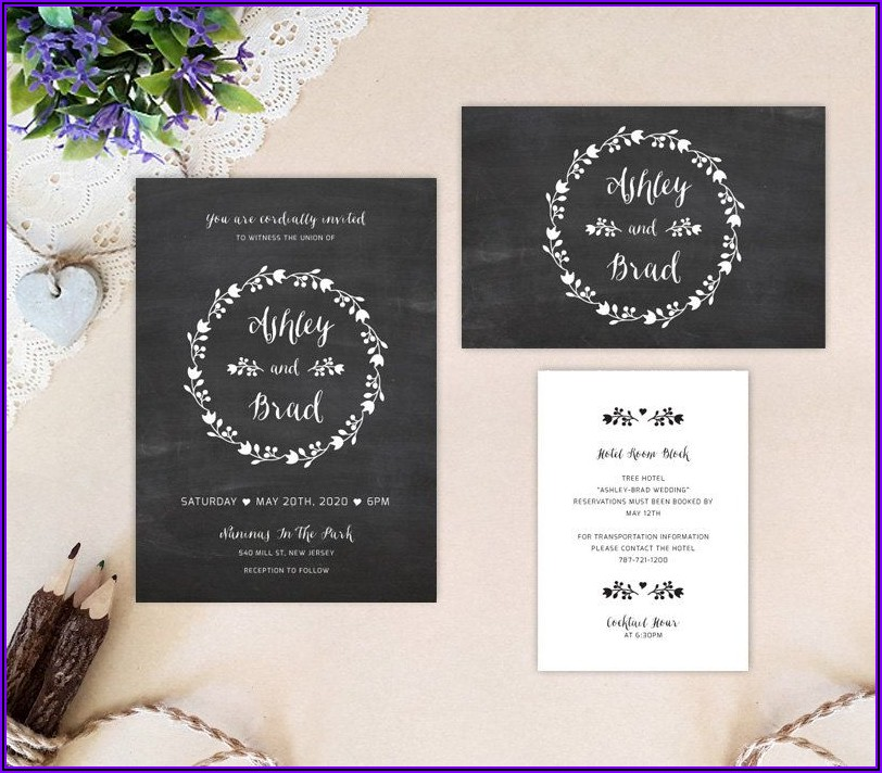 Cheap Wedding Invitations With Rsvp Cards And Envelopes Set