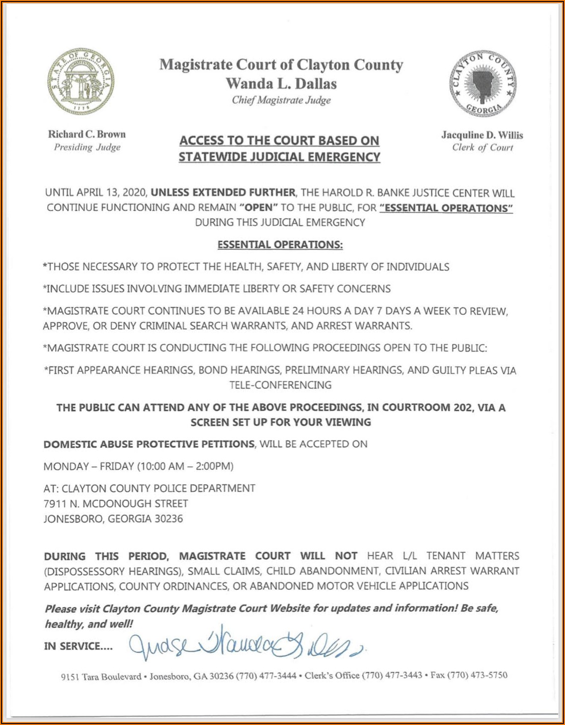 Clayton County State Court Forms