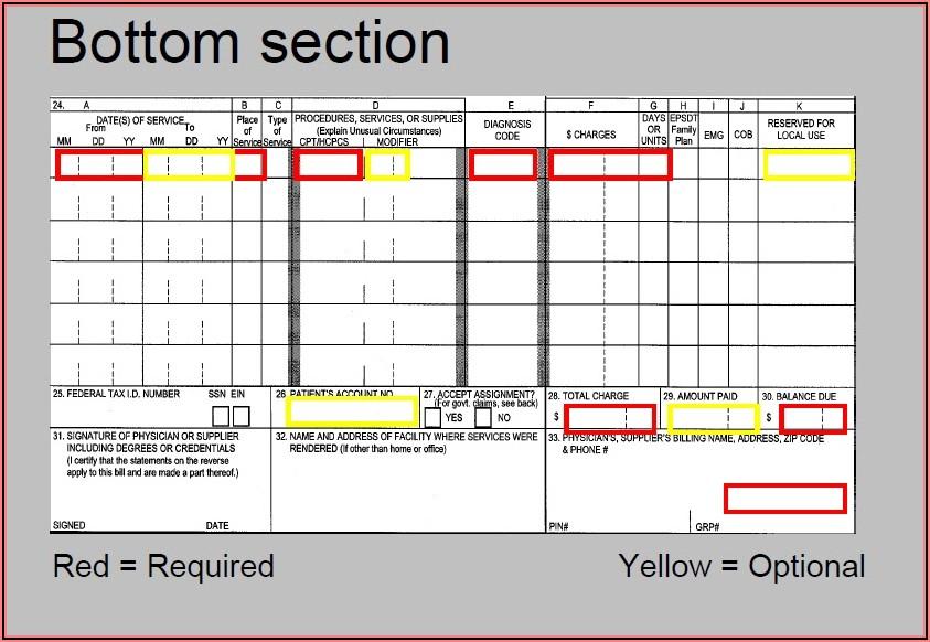 Cms 1500 And Ub 04 Claim Form