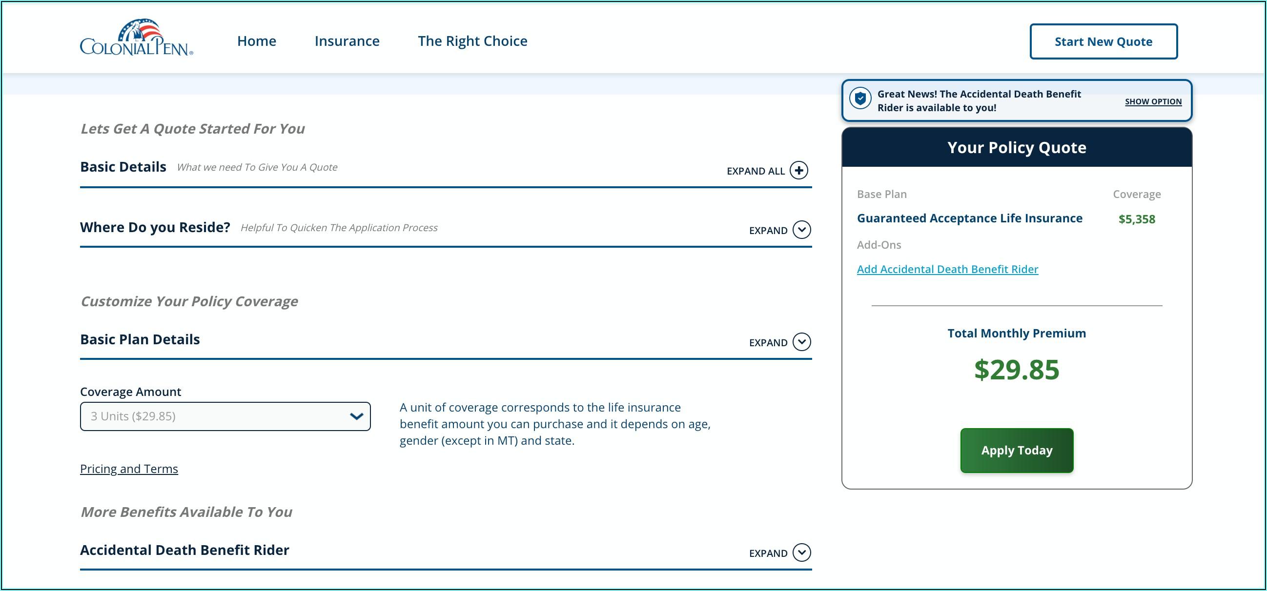 Colonial Penn Life Insurance Claim Form
