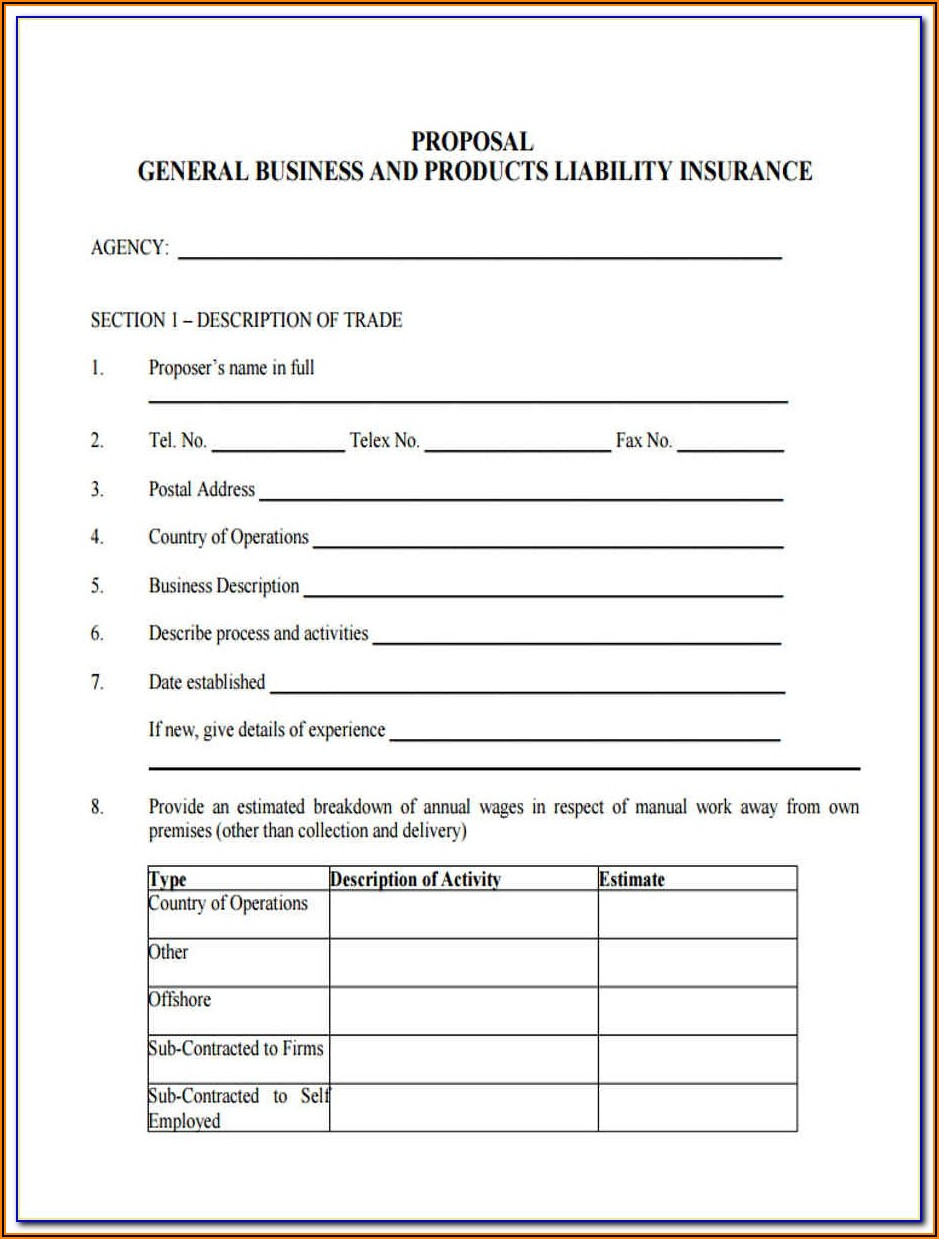 Commercial General Liability Coverage Form
