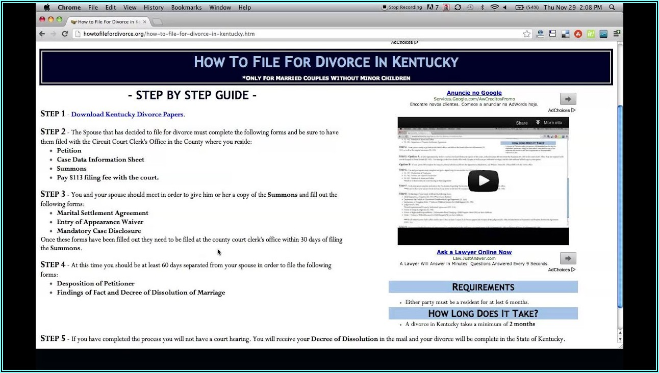 Contested Divorce Forms In Kentucky