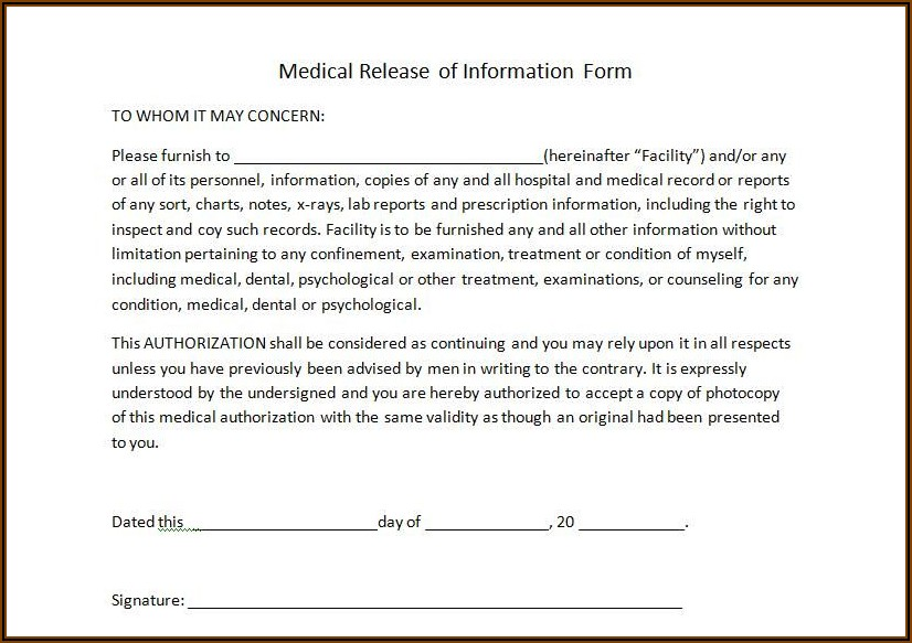 Continuing Health Care Consent Form