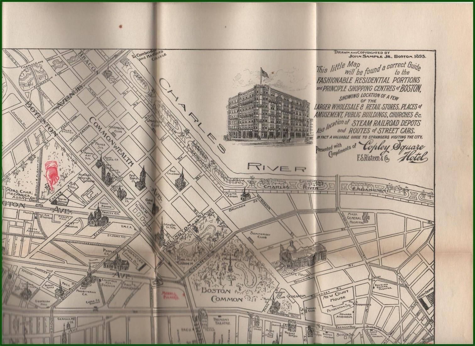 Copley Square Hotel Boston Map