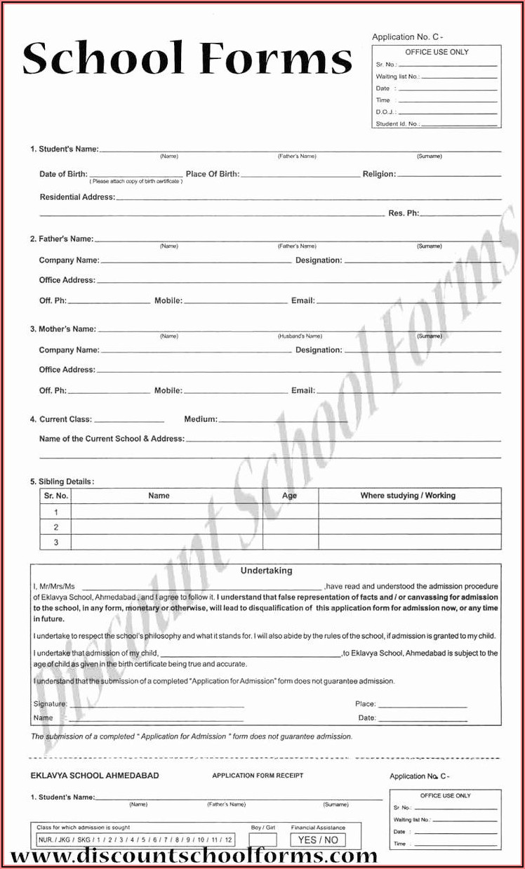 Dance School Registration Form Template Free