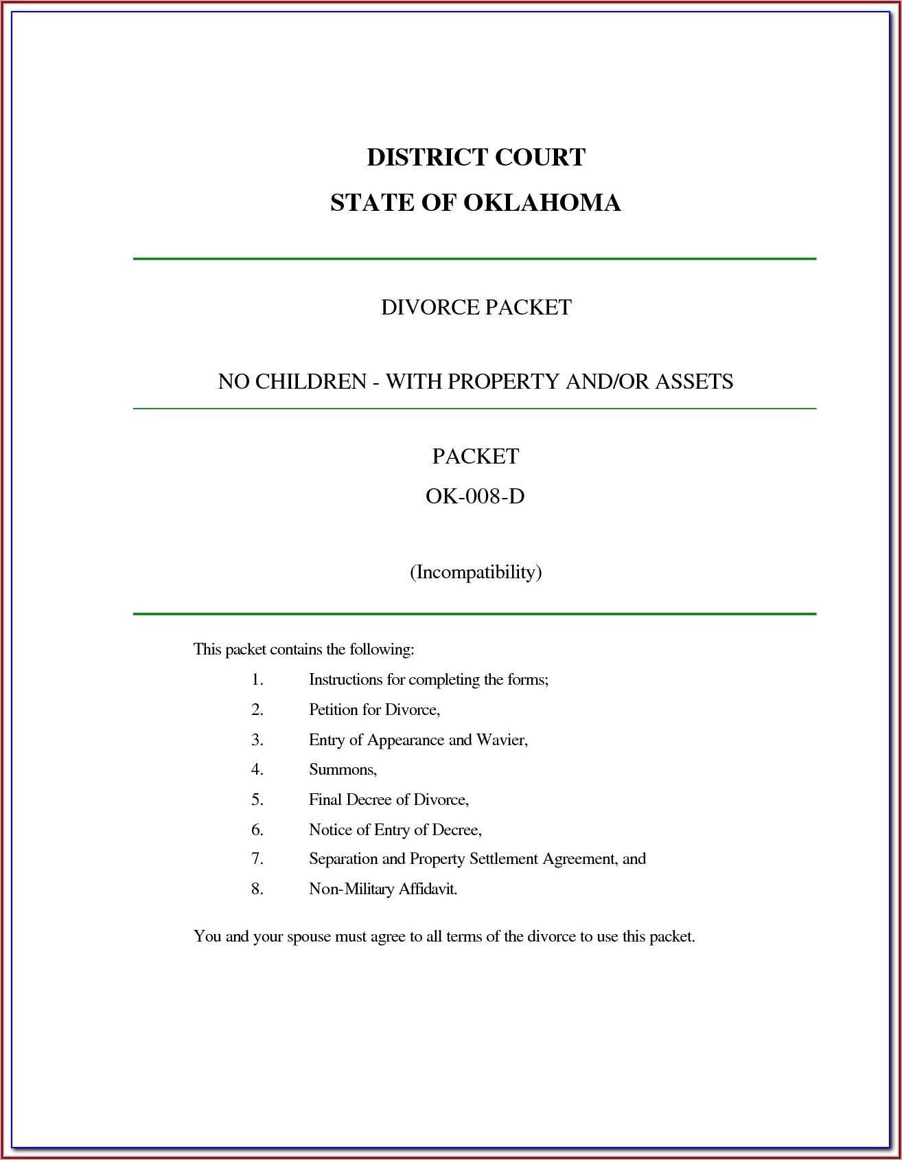 Decree Of Divorce Form Alabama