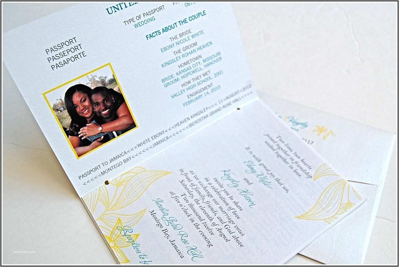 Diy Passport Wedding Invitations Template