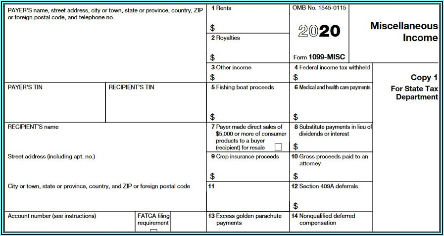 Download Form 1099 Misc 2020
