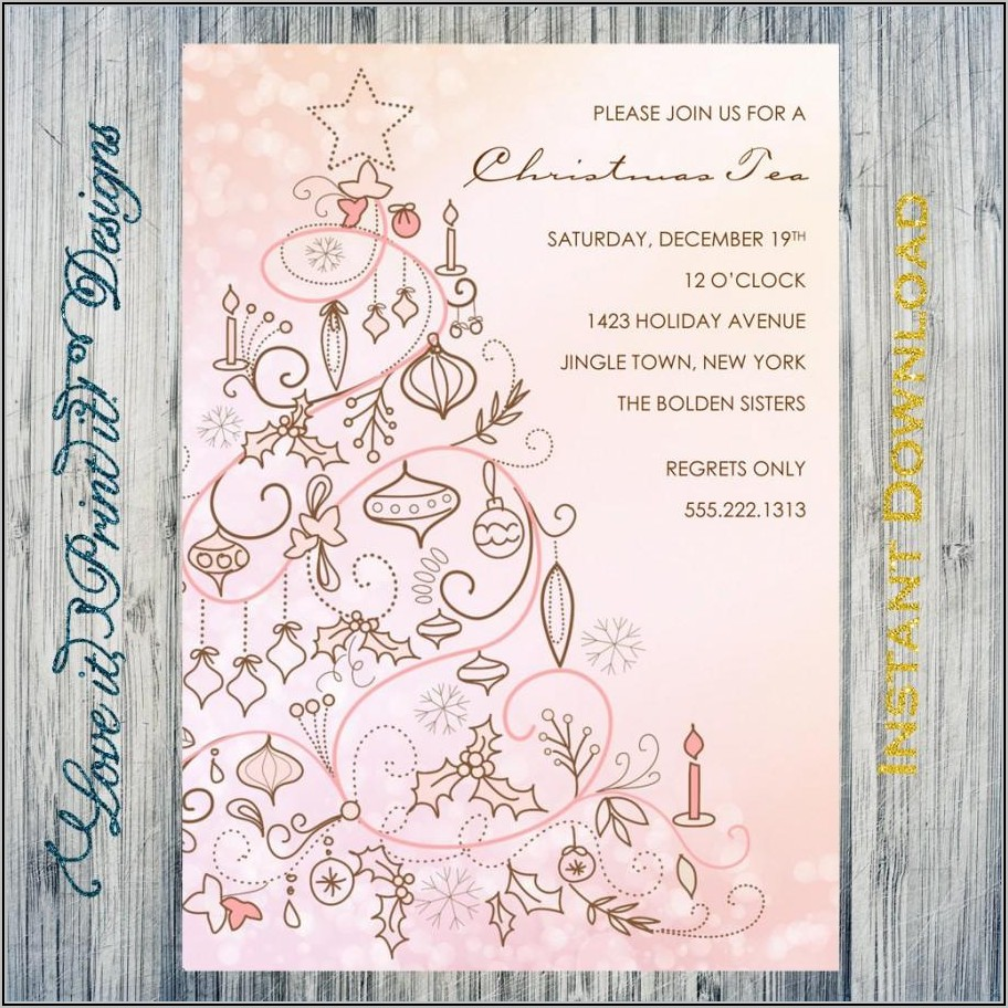 Downloadable Free Christmas Invitation Templates Word