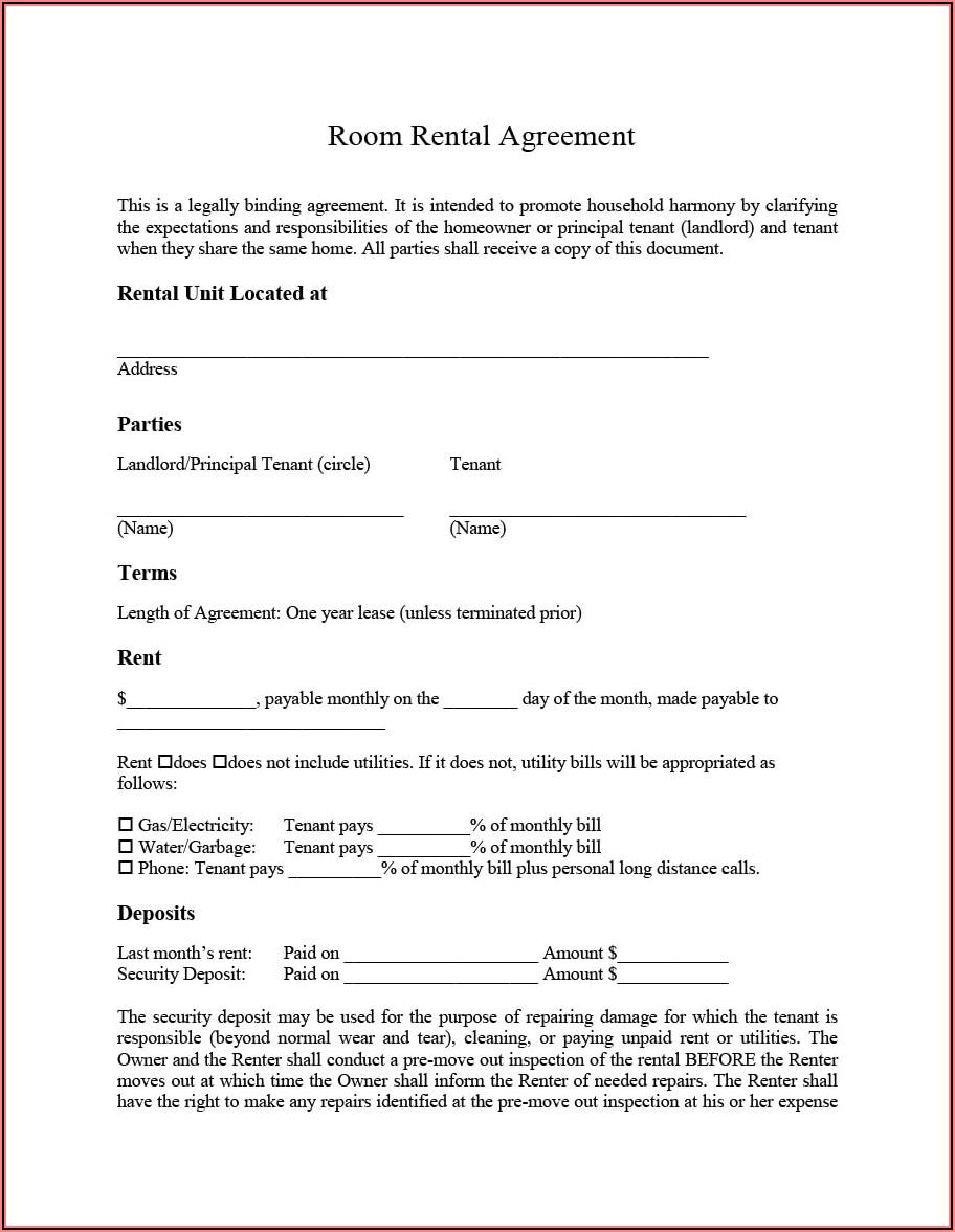 Downloadable Printable Free Tenancy Agreement Template Word Uk