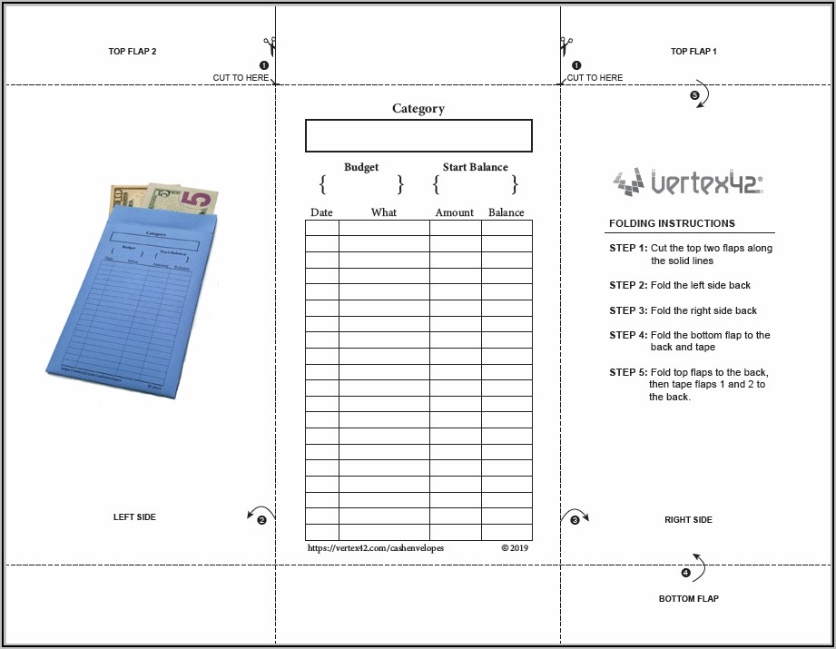 Downloadable Printable Money Envelope Template Pdf
