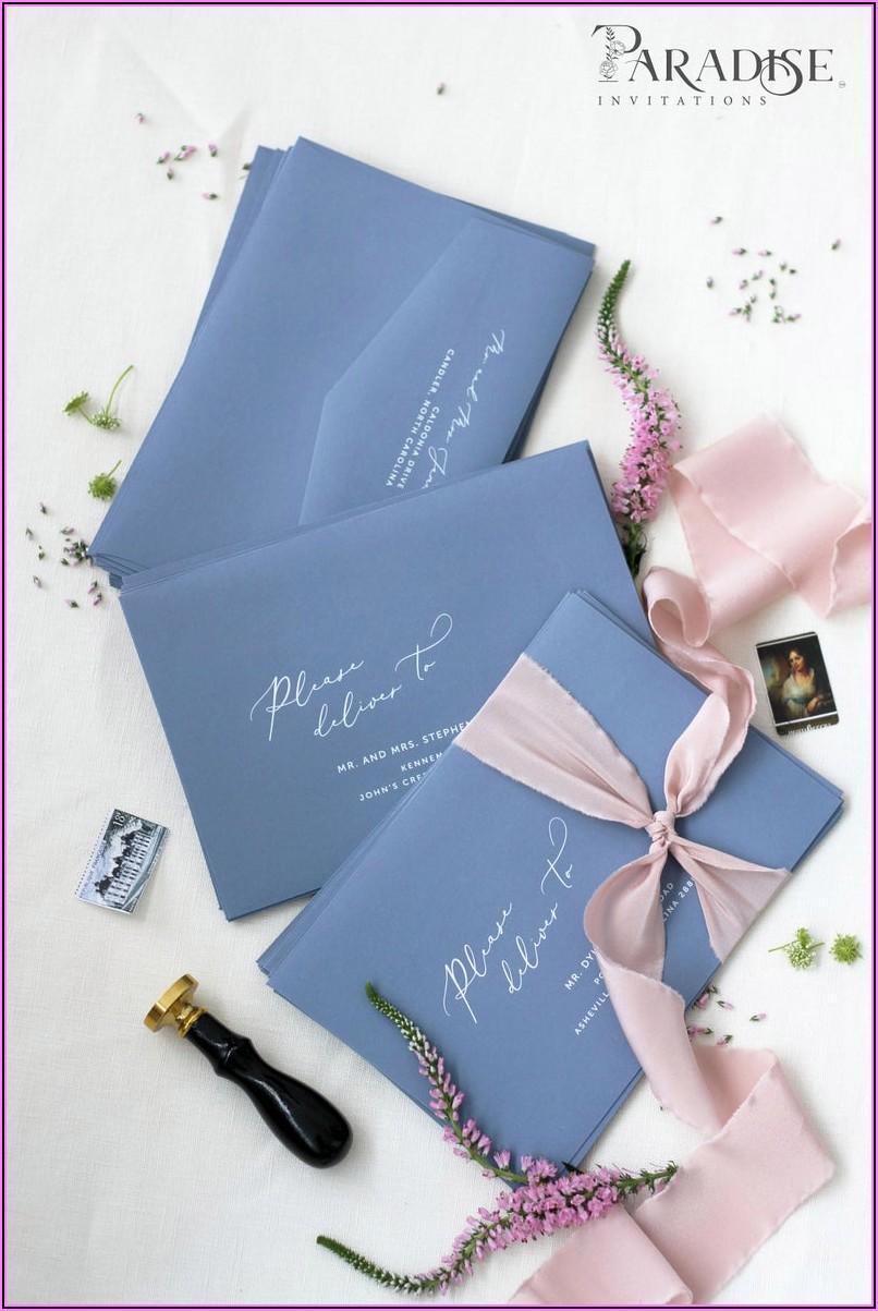 Dusty Blue Envelopes 5x7